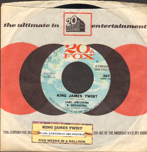 Letzman, Carl & His Orchestra - King James Twist/Five Weeks In A Balloon (with juke box label and company sleeve) - EX8/ - 45 rpm Records