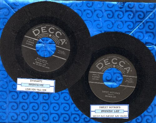 Lee, Brenda - 2 for 1 Special: Dynamite/Sweet Nothin's (2 vintage first issue 45rpm records with juke box label for the price of 1!) - VG6/ - 45 rpm Records