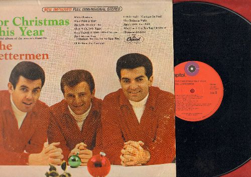 Lettermen - For Christmas This Year: White Christmas, Have Yourself A Merry Little Christmas, I'll Be Home For Christmas, The Christmas Song (Vinyl STEREO LP record, 1970s re-issue) - NM9/VG7 - LP Records