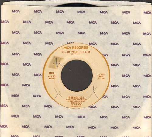 Lee, Brenda - Tell Me What It's Like/Let Your Love Fall Back On Me (with MCA company sleeve) - VG7/ - 45 rpm Records