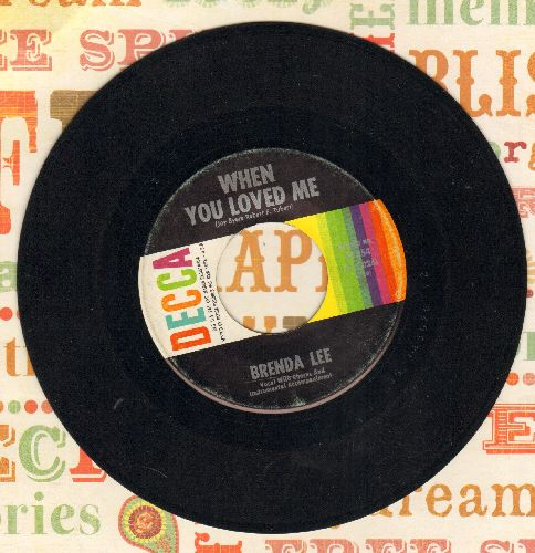 Lee, Brenda - When You Loved Me/He's Sure To Remember Me  - EX8/ - 45 rpm Records