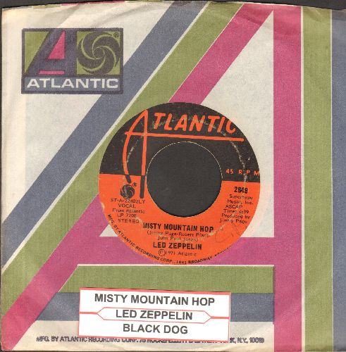 Led Zeppelin - Black Dog/Misty Mountain Hop (with juke box label and Atlantic company sleeve) - VG7/ - 45 rpm Records