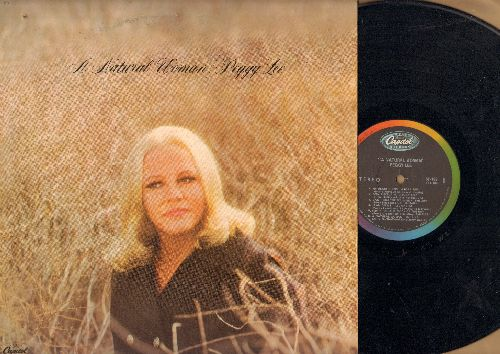 Lee, Peggy - A Natural Woman: Lean On Me, (Sittin' On) The Dock Of The Bay, Spinning Wheel (vinyl STEREO LP record) - NM9/EX8 - LP Records