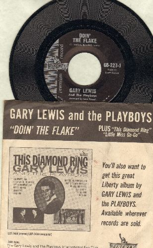 Lewis, Gary & The Playboys - Doin' The Flake/This Diamond Ring/Little Miss Go-Go (RARE vinyl EP record, WITH picture sleeve, dance instructions on back of sleeve!) - NM9/EX8 - 45 rpm Records