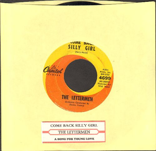 Lettermen - Come Back Silly Girl/A Song For Young Love (with juke box label) - EX8/ - 45 rpm Records