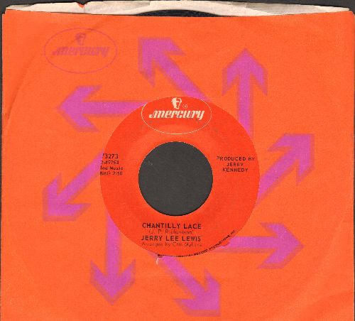 Lewis, Jerry Lee - Chantilly Lace/Think About Darlin' (1970s issue with  Mercury company sleeve) - EX8/ - 45 rpm Records