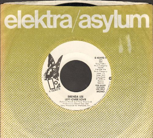 Lee, Brenda - Left-Over Love (double-A-sided DJ advance pressing with Elektra company sleeve) - NM9/ - 45 rpm Records