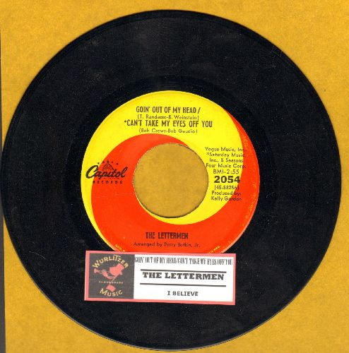 Lettermen - Goin' Out Of My Head/Can't Take My Eyes Off You/I Believe (with juke box label) - NM9/ - 45 rpm Records
