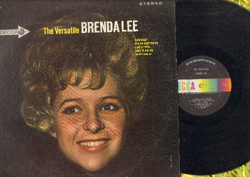 Lee, Brenda - The Versatile Brenda Lee: Yesterday's Gone, La Vie En Rose, The Birds And The Bees, Maybe (Vinyl STEREO LP record) - VG7/EX8 - LP Records