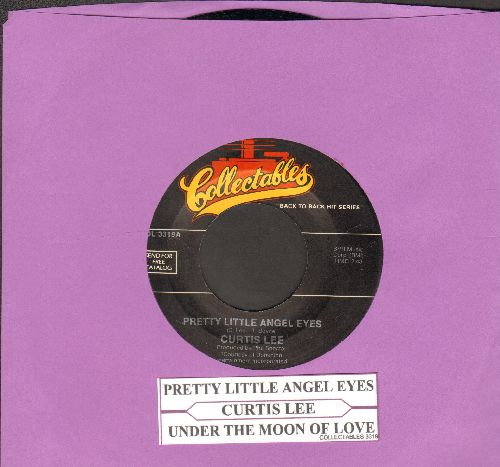 Lee, Curtis - Under The Moon Of Love/Pretty Little Angel Eyes (double-hit re-issue with juke box label) - NM9/ - 45 rpm Records