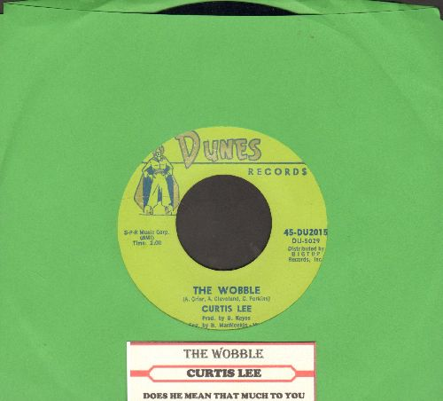 Lee, Curtis - The Wobble/Does He Mean That Much To You (with juke box label) - NM9/ - 45 rpm Records