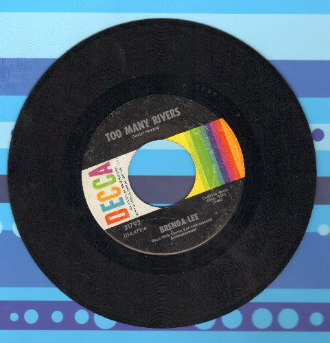 Lee, Brenda - Too Many Rivers/No One  - VG7/ - 45 rpm Records