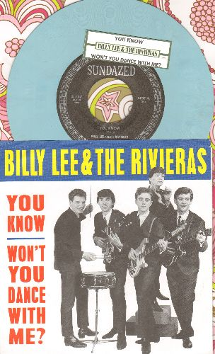 Lee, Billy & The Rivieras - You Know/Won't You Dance With Me? (Color Vinyl re-issue with picture sleeve and juke box label) - NM9/NM9 - 45 rpm Records
