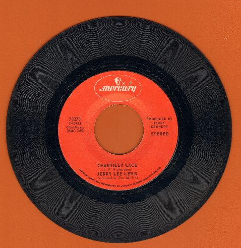 Lewis, Jerry Lee - Chantilly Lace/Think About Darlin' (1970s issue) - EX8/ - 45 rpm Records