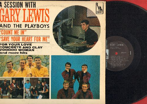 Lewis, Gary & The Playboys - A Session With Gary Lewis & The Playboys: Count Me In, Save Your Heart For Me, Palisades Park, Runaway (Vinyl MONO LP record) - EX8/VG7 - LP Records