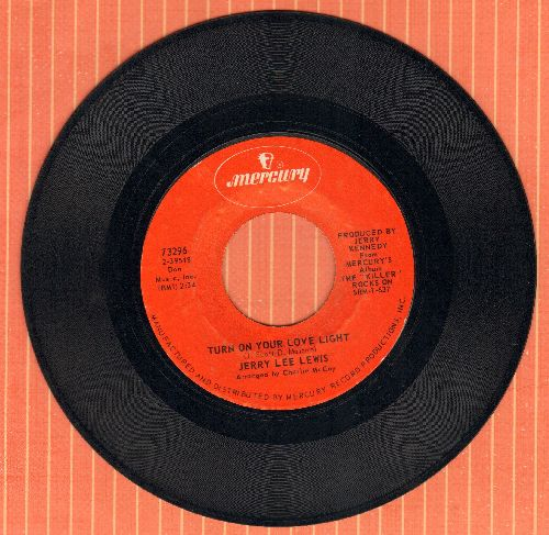Lewis, Jerry Lee - Turn On Your Love Light/Lonely Weekends - EX8/ - 45 rpm Records