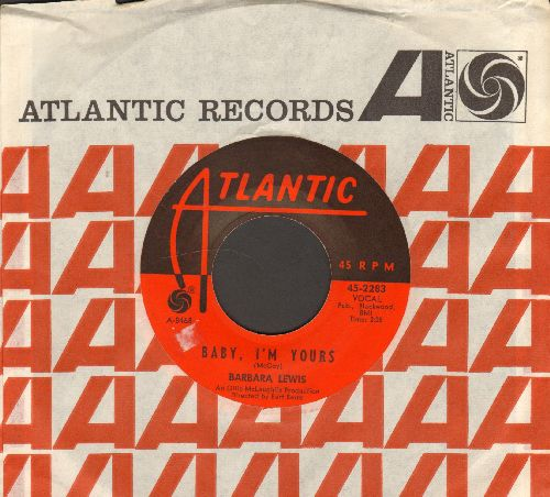 Lewis, Barbara - Baby, I'm Yours/I Say Love (with Atlantic company sleeve) - EX8/ - 45 rpm Records
