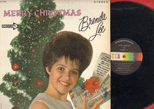 Lee, Brenda - Merry Christmas: Rockin' Around The Christmas Tree, Jingle Bell Rock, Frosty The Snowman, A Marshmallow World, Christmas Will Be Just Another Lonely Day, Santa Claus Is Coming To Town (Vinyl STEREO LP record) - EX8/EX8 - LP Records