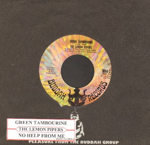 Lemon Pipers - Green Tambourine/No Help From Me (with jukebox label and Buddah company sleeve) - NM9/ - 45 rpm Records
