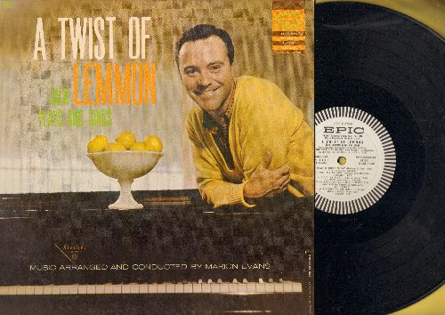 Lemmon, Jack - A Twist Of Lemmon - Jack Plays And Sings: The Kiss That Rocked The World, On The Sunny Side Of The Street, Let's Fall In Love (vinyl MONO LP record, DJ advance pressing) - NM9/NM9 - LP Records