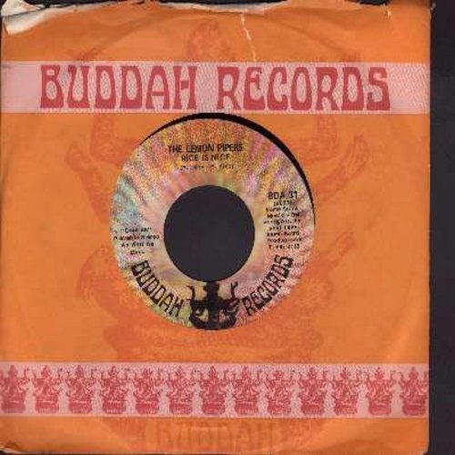 Lemon Pipers - Rice Is Nice/Blueberry Blue (with Buddah company sleeve) - EX8/ - 45 rpm Records