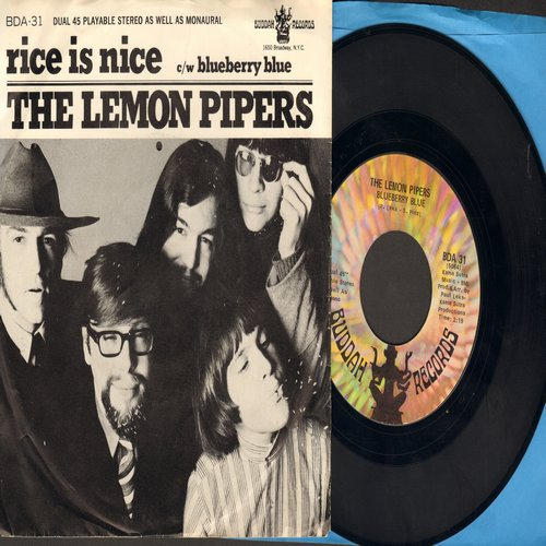 Lemon Pipers - Rice Is Nice/Blueberry Blue (with RARE picture sleeve) - NM9/EX8 - 45 rpm Records