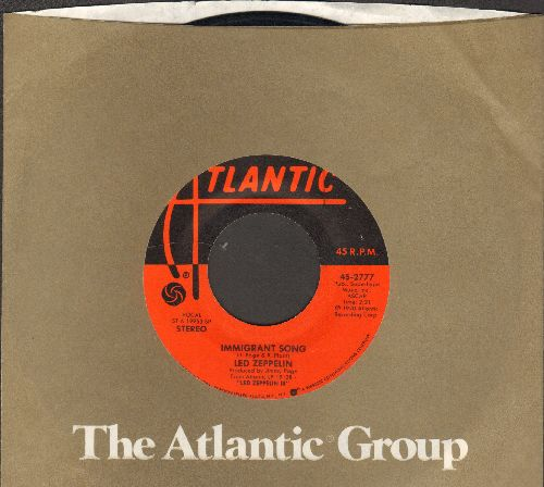 Led Zeppelin - Immigrant Song/Hey, Hey, What Can I Do (with Atlantic company sleeve) - EX8/ - 45 rpm Records