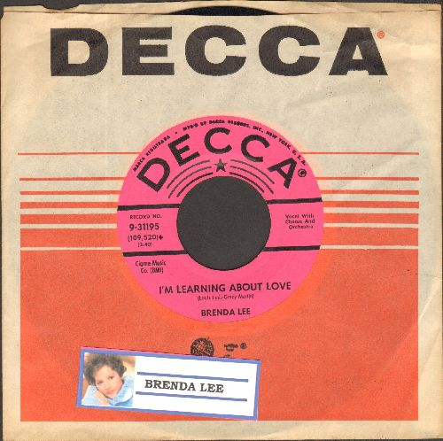 Lee, Brenda - Emotions/I'm Learnin' About Love (FANTASTIC flip-side!) (DJ advance pressing with Decca company sleeve) - EX8/ - 45 rpm Records