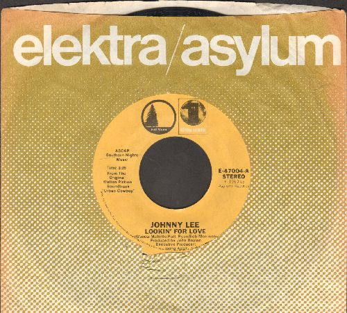 Lee, Johnny - Lookin' For Love/Lyin' Eyes (by The Eagles on flip-side; both songs featured in film -Urban Cowboy-)(with company sleeve) - EX8/ - 45 rpm Records