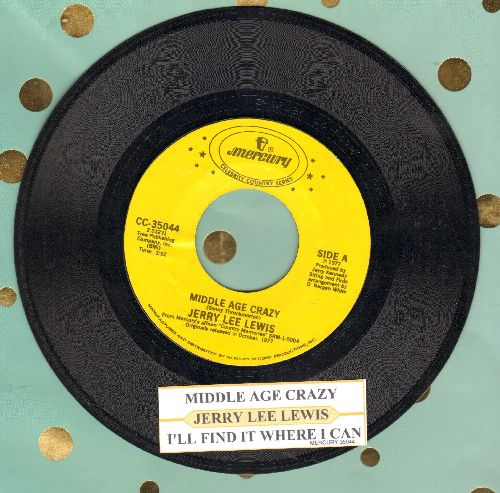 Lewis, Jerry Lee - Middle Age Crazy/I'll Find It Where I Can (double-hit re-issue with juke box label) - NM9/ - 45 rpm Records