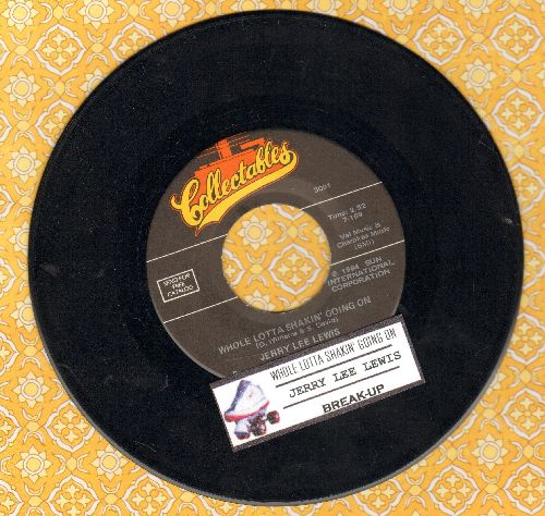 Lewis, Jerry Lee - Whole Lot Of Shakin' Going On/Break-Up (double-hit re-issue with juke box label) - EX8/ - 45 rpm Records