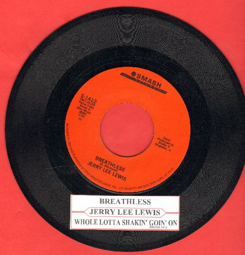 Lewis, Jerry Lee - Breathless/Whole Lotta Shakin' Goin' On ( double-hit re-issue with juke box label) - EX8/ - 45 rpm Records