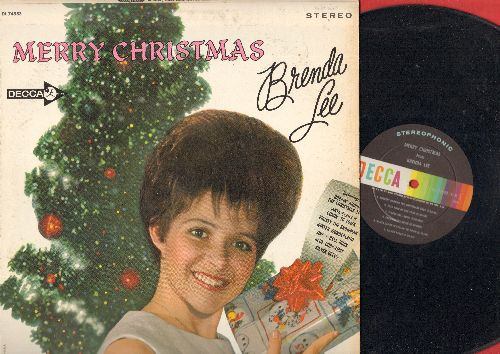 Lee, Brenda - Merry Christmas: Rockin' Around The Christmas Tree, Jingle Bell Rock, Santa Claus Is Comin' To Town, Frosty The Snowman, Winter Wonderland (vinyl STEREO LP record) - EX8/EX8 - LP Records