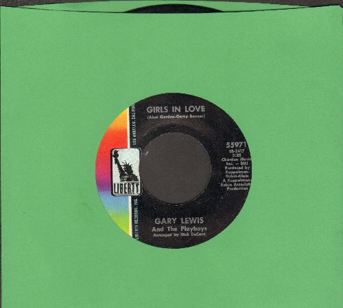 Lewis, Gary & The Playboys - Girls In Love/Let's Be More Than Friends - NM9/ - 45 rpm Records
