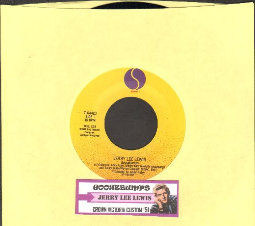 Lewis, Jerry Lee - Goosebumps/Crown Vicoria Custom '51 (FANTASTIC Rock-A-Billy 2-sider with juke box label) - NM9/ - 45 rpm Records