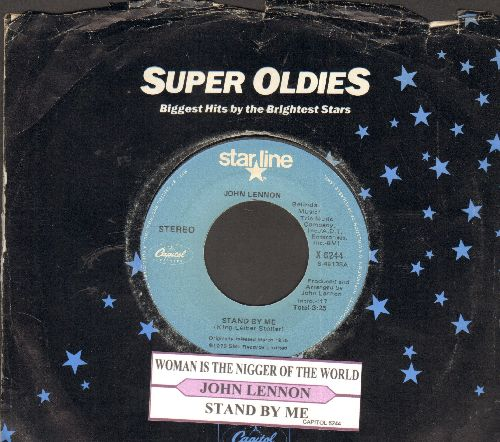 Lennon, John - Stand My Me/Woman Is The Ni**er Of The World (double-hit re-issue with company sleeve) - NM9/ - 45 rpm Records
