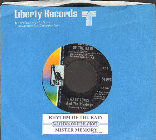 Lewis, Gary & The Playboys - Rhythm Of The Rain/Mister Memory (with juke box label and Liberty company sleeve)  - NM9/ - 45 rpm Records