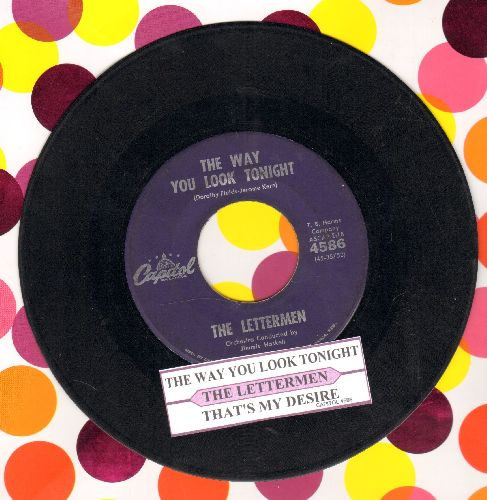 Lettermen - The Way You Look Tonight/That's My Desire (purple first pressing with juke box label - VG7/ - 45 rpm Records