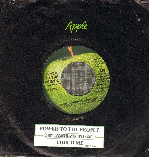 Lennon, John & Plastic Ono Band - Power To The People/Touch Me (with juke box label and Apple company sleeve) - EX8/ - 45 rpm Records