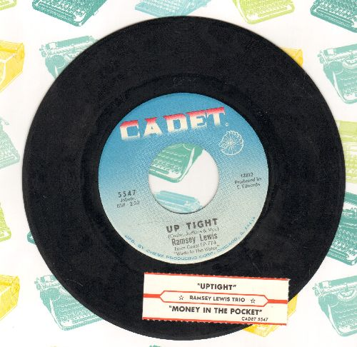 Lewis, Ramsey Trio - Up Tight/Money In The Pocket (with juke box label) - NM9/ - 45 rpm Records