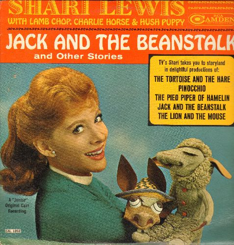 Lewis, Shari  - Jack And The Beanstalk and Other Stories satrring the beloved Puppeteer with Lamb Chops, Charlie Horse & Hush Puppy (vinyl MONO LP record) - EX8/EX8 - LP Records