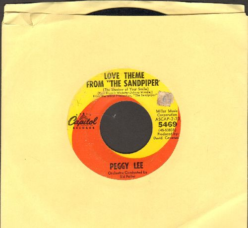 Lee, Peggy - Love Theme From -The Sandpiper- (the Shadow Of Your Smile)/Maybe This Summer - VG7/ - 45 rpm Records