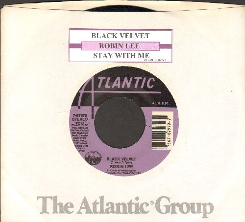 Lee, Robin - Black Velvet/Stay With Me (with juke box label and Atlantic company sleeve) - NM9/ - 45 rpm Records