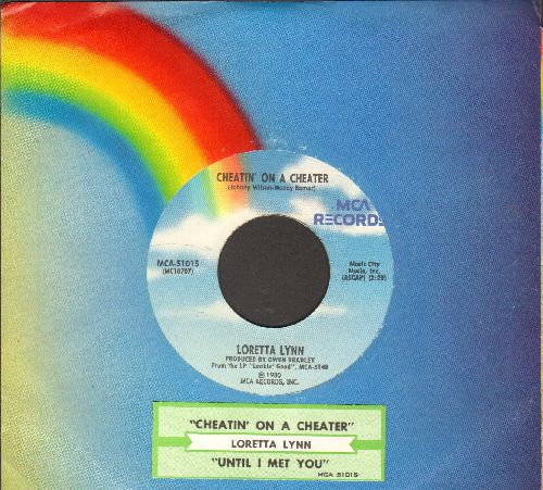 Lynn, Loretta - Chaetin' On A Cheater/Until I Met You (with juke box label and company sleeve) (with MCA company sleeve and juke box label) - EX8/ - 45 rpm Records