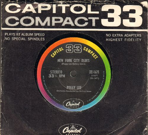 Lee, Peggy - The Grain Belt Blues/New York City Blues (7 inch 33rpm STEREO record, small spindle hole, with Capitol company sleeve) - EX8/ - 45 rpm Records