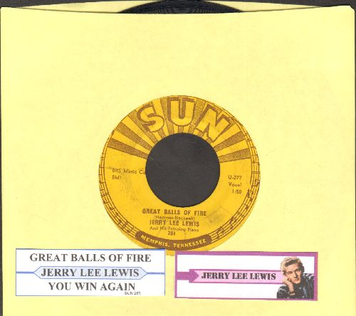 Lewis, Jerry Lee - Great Balls Of Fire/You Win Again (with juke box label) - VG7/ - 45 rpm Records