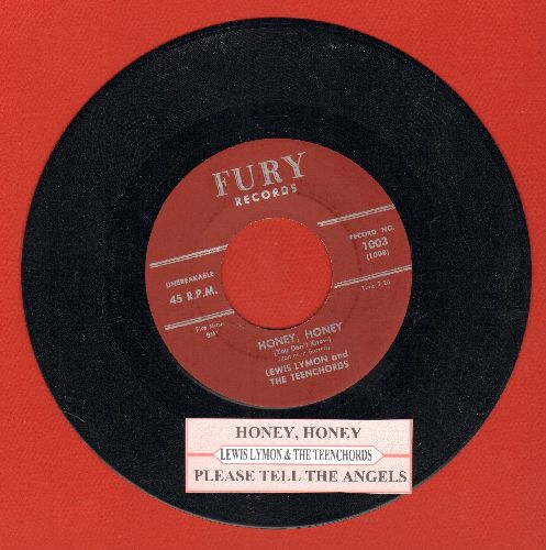 Lymon, Lewis & The Teenchords - Honey, Honey/Please Tell The Angels (authentic-looking re-issue with juke box label) - M10/ - 45 rpm Records