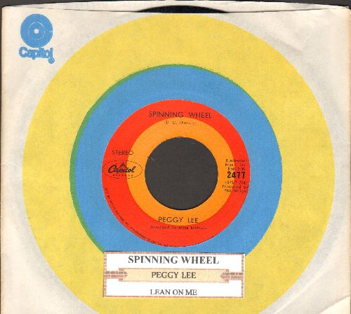 Lee, Peggy - Spinning Wheel/Lean On Me (with juke box label and Capitol company sleeve) - NM9/ - 45 rpm Records