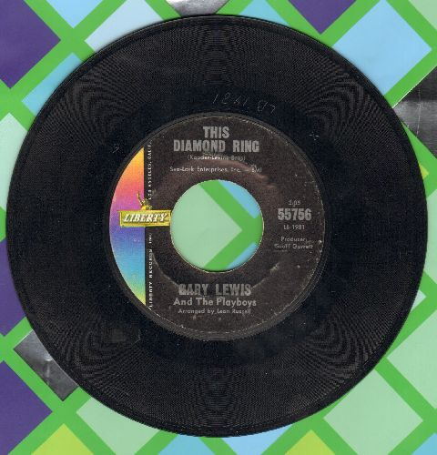 Lewis, Gary & The Playboys - This Diamond Ring/Tijuana Wedding  - VG7/ - 45 rpm Records