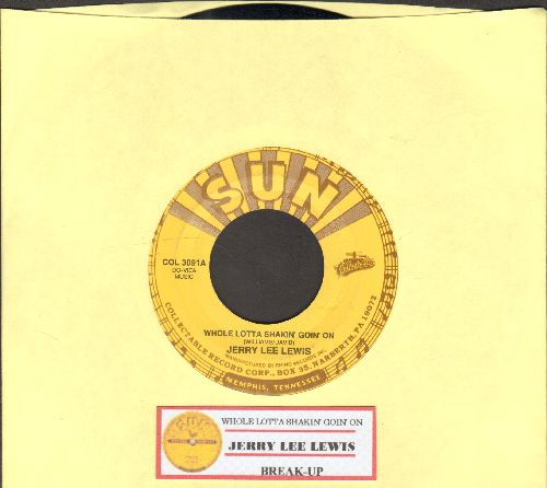 Lewis, Jerry Lee - Whole Lot Of Shakin' Going On/Break-Up (authentic-looking re-issue with juke box label) - NM9/ - 45 rpm Records